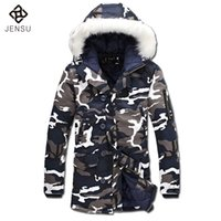 Wholesale Veste Camouflage - Wholesale- 2016 Men Padded Coats Cotton-Padded Winter Jackets Veste Homme Parkas Men's Casual Fashion Slim Fit Hooded Camouflage Jackets