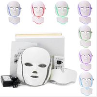 Wholesale Home Skin Tightening Devices - 2017 best selling 7 colors photon PDT led skin care facial mask mini home salon portable led therapy beauty devices face neck mask
