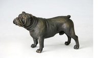 Wholesale Vintage Pug - Brass Crafted Human Vintage Christmas Gifts Sculpture Bronze Dog Shar-Pei Figurine Pug Animal Estatua Home Furnishing Articles