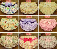 Wholesale cute diaper girls resale online - Summrer New baby cotton tassel bloomers Infant Chevron Satin Bloomers cute baby shorts girls chevron pants baby diaper cover S M L for T
