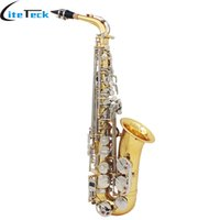 Wholesale White Alto Saxophone - wholesale High Quality Brass alto Saxophone Sax Glossy Brass Engraved Eb E-Flat Natural White Shell Button Wind Instrument