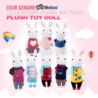 Wholesale Tiramisu Cute - 35cm Genuine Metoo Toys children Tiramisu Rabbits Cute Stuffed cartoon Animals Design Plush Toy Doll Birthday Gifts For Girls