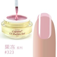 Wholesale Colors Uv Builder Gel - Wholesale- CANNI 25 Colors Camouflage Jelly UV Gels For Nail Extension UV Builder Gel Soak Off Transparent Nail Gel lacquer (15ml) 1PCS