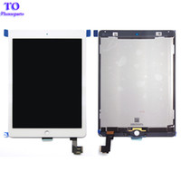 Wholesale For ipad air Lcd Display with Touch Screen Digitizer for ipad ipad air A1567 A1566 Black White Free Ship