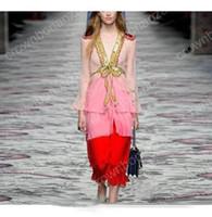 Wholesale Designer Maxi - 2017 High quality fashion Runway Designer Dress Women's Elegant Luxury Bow Sequined Maxi Dress