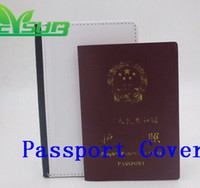 Wholesale Transfer Printing Press - Sublimation PU leather protective case for passport holder 2D heat transfer press printing cover blank custom DIY 100pcs Lot