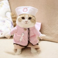 Wholesale Nursing Spring - Creative Pets Costumes Dog Clothes Pet Supplies Dogs Vertical Standing Cute Look Clothing Plenty Roles Dress Patterns 4 Sizes Nurse Look