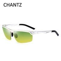 Wholesale magnesium vision - Vintage Aluminum-Magnesium Sunglasses Men Polarized 2017 Brand Night Vision Glasses Men's Goggles UV400 Lunette De Soliel Homme