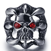 Wholesale Gothic Claw Rings - Stainless Steel Sharp Dragon Claw Gothic Halloween Theme Ring Vintage Titanium Steel Rings Men Fashion Personalized Ring