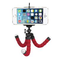 mobil cihaz için tripod standı toptan satış-Araç telefonu tutucu esnek ahtapot tripod braketi dağı standı monopod sony cep telefonu samsung kamera için styling aksesuarları