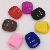 Wholesale Car Key Fob Lexus - New silicon car key cover case shell fob for Toyota Lexus 2 button protecter silicon case 50pcs lot