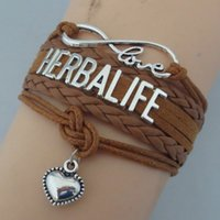 Herbalife Lettera Friendship Infinity Love Bracciali Multilayer Heart Charm Bracelet Fashion Jewelry per il migliore amico
