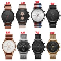 Wholesale Cow Leather Watches - MVMT Watches Men Top Brand Luxury Cow Leather Strap Quartz-Watches Sport Men's Watches Waterproof chronograph Relogio Heren Hodinky