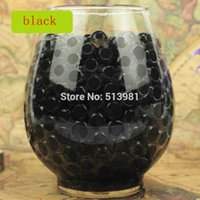 5000pcs New Black Magic Pearl vaso di riempimento a forma di terreno di cristallo acqua perline fango crescere gelatina creativo bibulo Home Wedding Decor