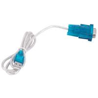 usb db9 seri kablo toptan satış-500 takım / grup CH340 USB RS232 COM Port Seri PDA 9 pin DB9 Kablosu Adaptörü Erkek PC MA M M M GPS Desteği Windows7 8