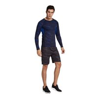 Wholesale Mens Athletic Clothes - Vihir Mens Athletic Compression Printed Sport Running Long Sleeves Training Quick-dry Solid Bodybuild Gym Crossfit Base Layer Clothing