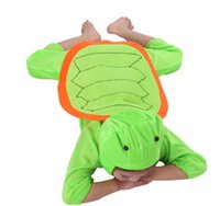 Wholesale Sea Turtle Costume - Green Turtle Costume Sea Turtle Kid Halloween Costume Ideas Lint Perform Clothes Cosplay Party Animal Apparel Birthday Gift