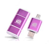 unidad flash usb sd micro al por mayor-Micro SD / TF Micro USB OTG lector de tarjetas inteligentes i-Flash TF lector de tarjetas USB lector de tarjetas de memoria para teléfonos Android