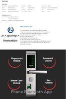 Wholesale Intelligent Fingerprint Lock - English-version bluetooth Fingerprint password key card keyless Intelligent Lock Anti-theft Door Locks Silver 304 Stainless Door Lock