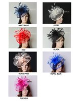 Wholesale Cups Hats Wholesalers - New Colour arrival.Big Crin Fascinator sinamay Fascinator with feather flowers for Melbourne cup,Wedding,Races.