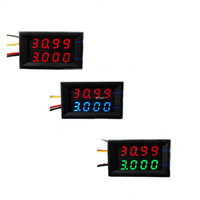 Freeshipping 40pcs / lot einfaches 4 Bit DC 0-33V / 3A Doppel-LED-Anzeige 0.28 Digital-Amperemeter-Voltmeter-Spannungsstrom LED-Anzeigenauto-Meter