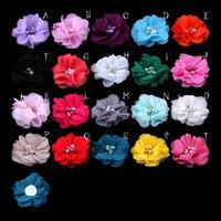 mini çiçekler saç tokaları toptan satış-Toptan Satış - (30pcs / lot) 2