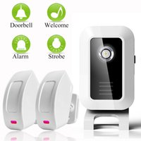 Wholesale Door Sensor Bell - Welcome device Shop Store Home Welcome Chime Wireless Infrared IR Motion Sensor Door bell Alarm Entry Doorbell Reach 150m