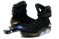 Wholesale Mens High Top Tennis Shoes - With Box Air Mag Men Limited Edition Back To The Future Mags Mens Basketball Shoes With LED Lights High Top Sport Sneakers