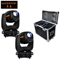 Wholesale Led Spot Club Lights - Disocunt 2IN1 Road Case Pack 300W Led Beam Moving Head Spot Light 7 gobos   8 Color Etage Effect Light for LED StageDisco Club