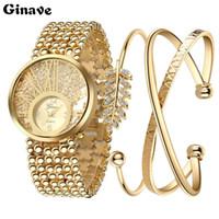 ingrosso bellissimi braccialetti-L'orologio stabilito del nuovo braccialetto delle signore di orologi di modo delle signore 18K è fascino della donna di spettacolo molto alla moda e bello