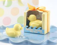 Wholesale Duck Scented Soap - Wholesale-20pcs lot duck baby shower favor scented soap savon wedding soap souvenirs