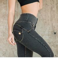 ingrosso giacche sessuali-Freddy pantaloni delle donne di alta elastico in vita dei jeans più il formato spinge verso l'alto le ghette Sex dell'anca pantaloni della matita Bodybuilding Leggings Femminile