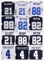 Wholesale Witten Bryant - Men's 21 EZEKIEL ELLIOTT 4 DAK PRESCOTT 88 DEZ BRYANT 82 JASON WITTEN 22 EMMITT SMITH 9 TONY ROMO 12 ROGER STAUBACH BLUE WHITE elite jerse