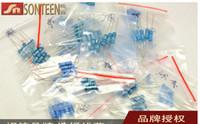 Wholesale 2w resistor kit - Wholesale- Freeshipping 2W Metal Film Resistors 22R-1M 23 value 230pcs 2W resistor package 1% 23 kinds of commonly resistance resistor kit