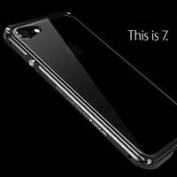 sert metal tampon çerçeve kılıfı kapağı toptan satış-IPhone 7/7 Artı Metal Kasa Lüks Darbeye Dayanıklı Alüminyum Tampon Çerçeve + Şeffaf Sert PC Case Arka Kapak