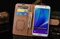 Wholesale Iphone 5s Stand Case - Brand Luxury Leather Wallet case for iPhone 8 7 6 6S Plus 5S SE 5C Cover for Samsung Galaxy S8 Plus S7 S6 Edge Note8 5 4 3 Stand Card Holder