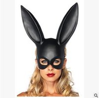 Wholesale Black Bunny Mask - Bunny Girl Mask Club Bar Rabbit Girl Masquerady Mask For Women Customer Party Supplies Easter Sexy Black Mask Free Shipping