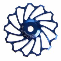Wholesale Bicycle Parts Accessories - 1 Set Mountain Bikes Road Bicycle Rear Derailleur Aluminum Alloy Guide Roller 13 Gear Jockey Wheel Part Accessory