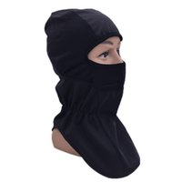 Wholesale Thermal Face Protection - Balaclava Thermal Fleece Windproof Protection Full Face Lycra Balaclava Headwear Ski Neck Cycling Motorcycle Mask Skullies Beanies Wholesale