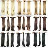 Wholesale Wholesale Ponytail Extensions - Wholesale-52cm, 9 colors, straight Ponytails with hair band, Synthetic hair ponytail, Hair Extensions
