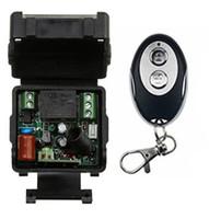 transmissor mini rf venda por atacado-Venda por atacado- Novo AC220V 1CH sem fio RF Mini Relay Receiver + 1pcs elipse forma Transmissores para porta da garagem dos dispositivos da porta
