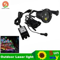 Wholesale Outdoor Christmas Decorations Uk - Remote Controller+ 2in1 12in1 8IN1 20in1 light christmas outdoor garden laser christmas garland waterproof lights decoration for home