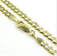 "Wholesale cut diamond necklace - 24"" 3.75mm 8.50 Gram 10k Yellow Gold Miami Cuban Diamond Cut Mens Chain Necklace"