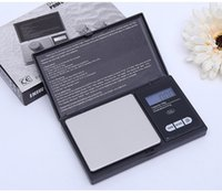 escalas de envío al por mayor-100 g 0.01 g Mini LCD Escala electrónica de bolsillo Acero inoxidable Joyería portátil Diamante de oro Básculas de equilibrio de pesaje Envío gratis