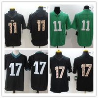 2017 new Men Game Stitched Style Eaglez  11 WENTZ  17 AGHOLOR White Black  Green Mix Order for football jerseys ... db9a6b8be0a32