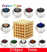 Wholesale Magnetic Beads 4mm - Wholesale 216pcs 4mm neodymium magnetic balls spheres beads magic cube - with metal box.