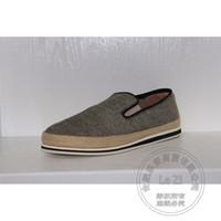 Wholesale Men Plimsolls - Shoes For Men Canvas Plain Solid Color Plimsolls Braid Canvas Shoes Nubuck Leather Shoes Men Espadrilles Straw Rope