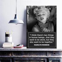 Wholesale Print Frame Digital Photos - ZZ1088 Vintage Canvas Painting Marilyn Monroe Portrait Canvas Art Home Decor No Frame Wall Art Wall Photo USA Actress Painting