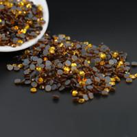 Wholesale Ss6 Diamond - 10gross Dmc Iron on Hot Fix Crystal Rhinestones Diamond Gems Wholesale DMC Hotfix Round Rhinestone SS6,SS10,SS16(Topaz)