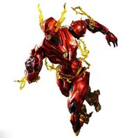 Wholesale League Cosplay Hot - Hot 25cm The Flash Action Figure Play Arts DC Justice League PVC Kids Gift Toy doll Anime Movie Model Movable Cosplay collection